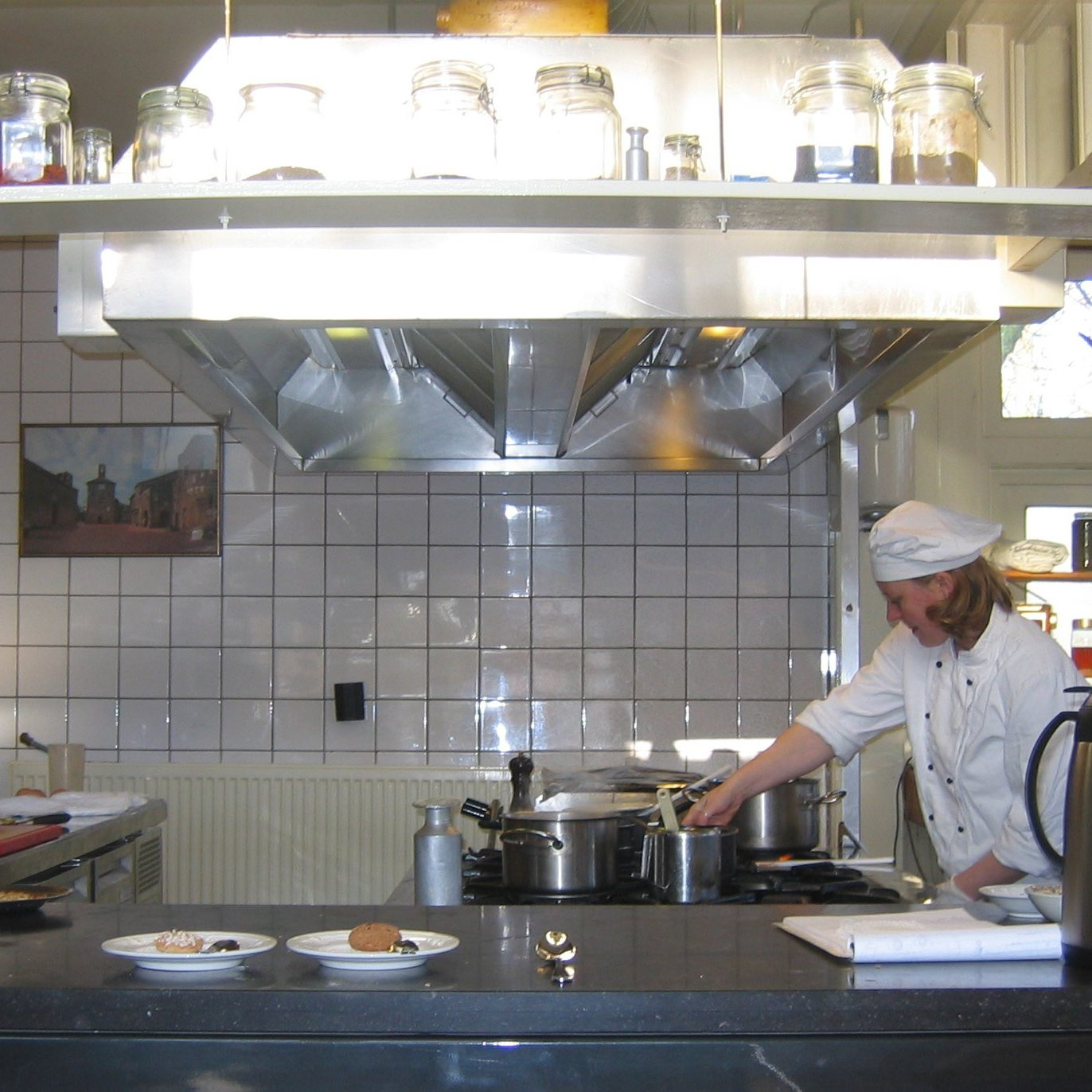 chef in restaurant kitchen